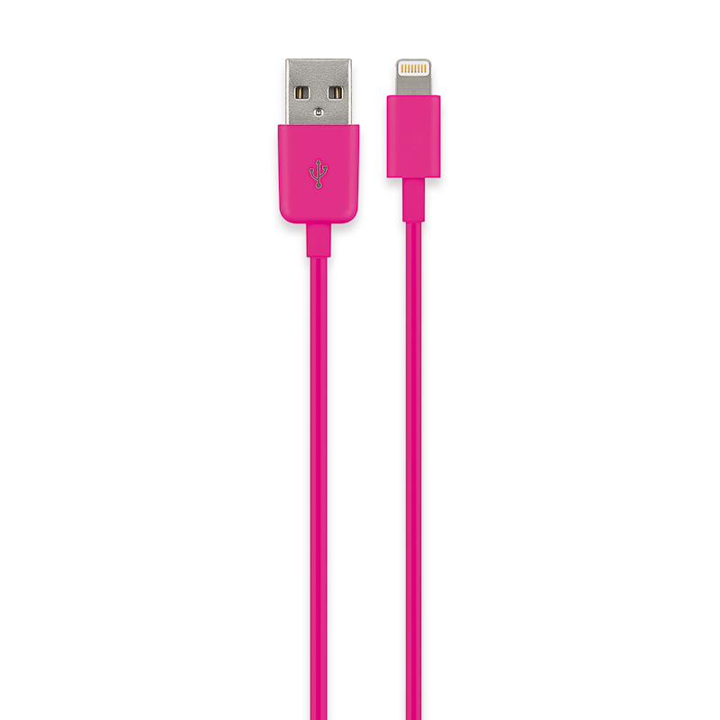 USB Sync- & Ladekabel Apple Lightning Connector Pink